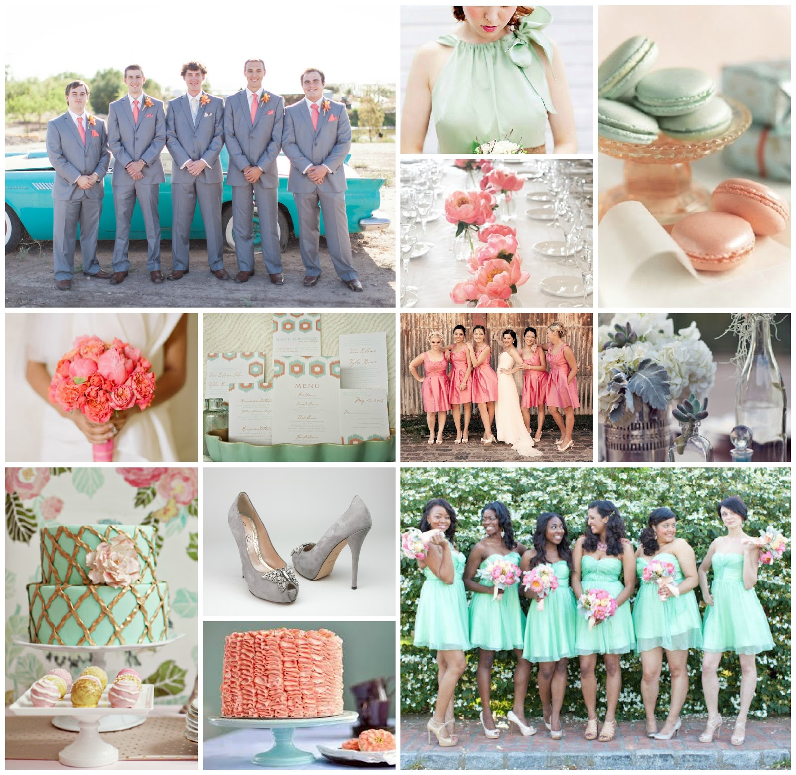 Mint And Coral Wedding Inspiration Aisle Perfect