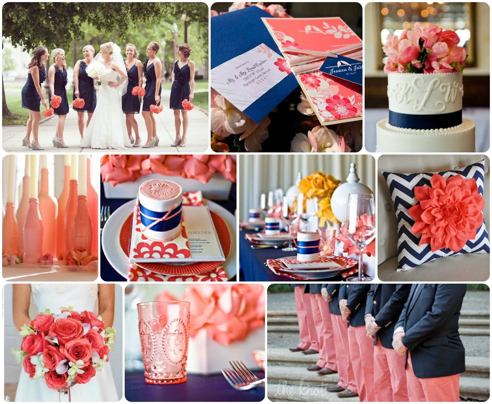 Navy And Coral Wedding.Coral And Navy Wedding Inspiration Perfete