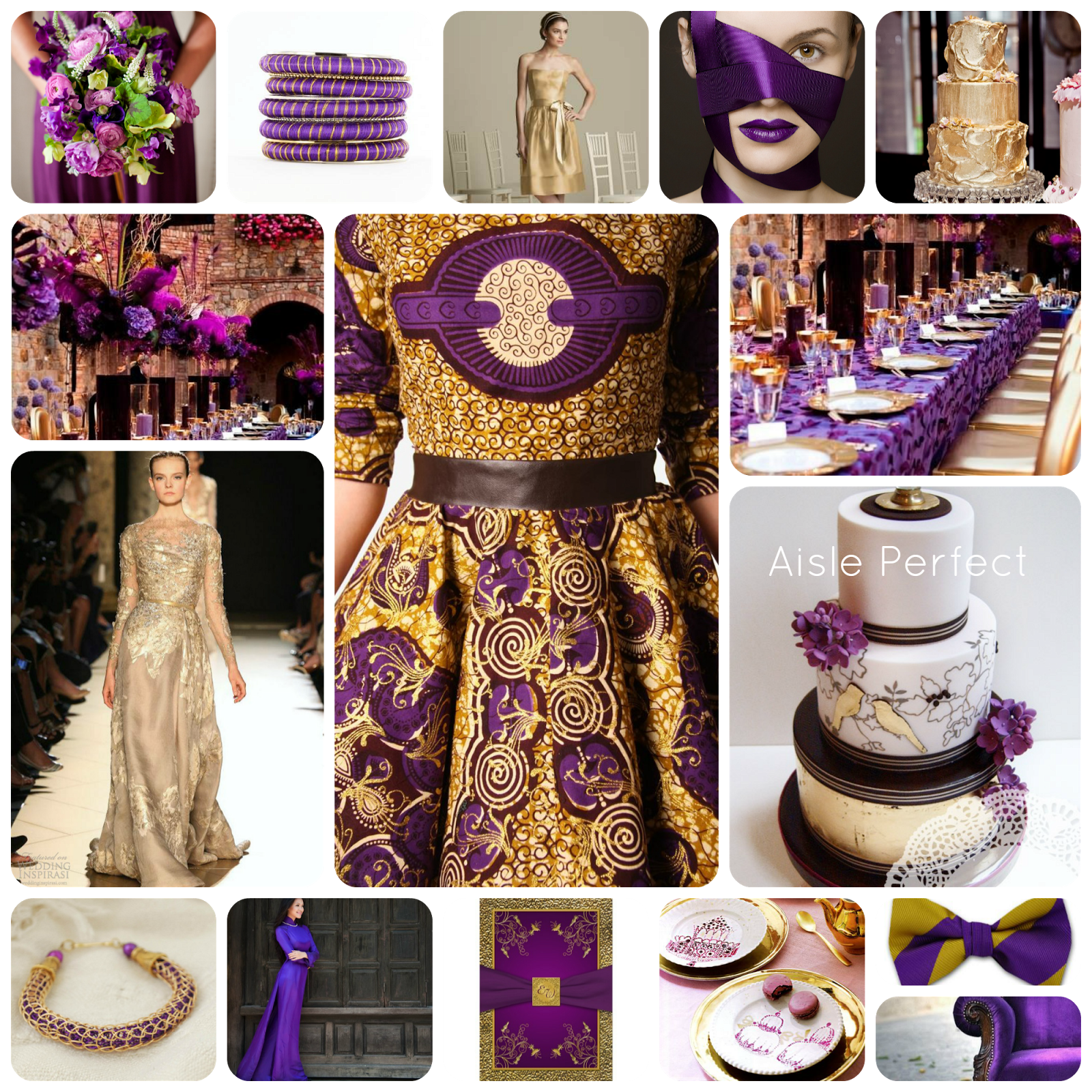 purple gold purple and gold wedding xo