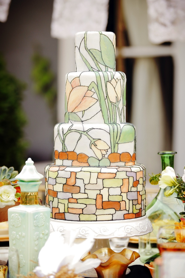 Art Deco Wedding Cakes lafete