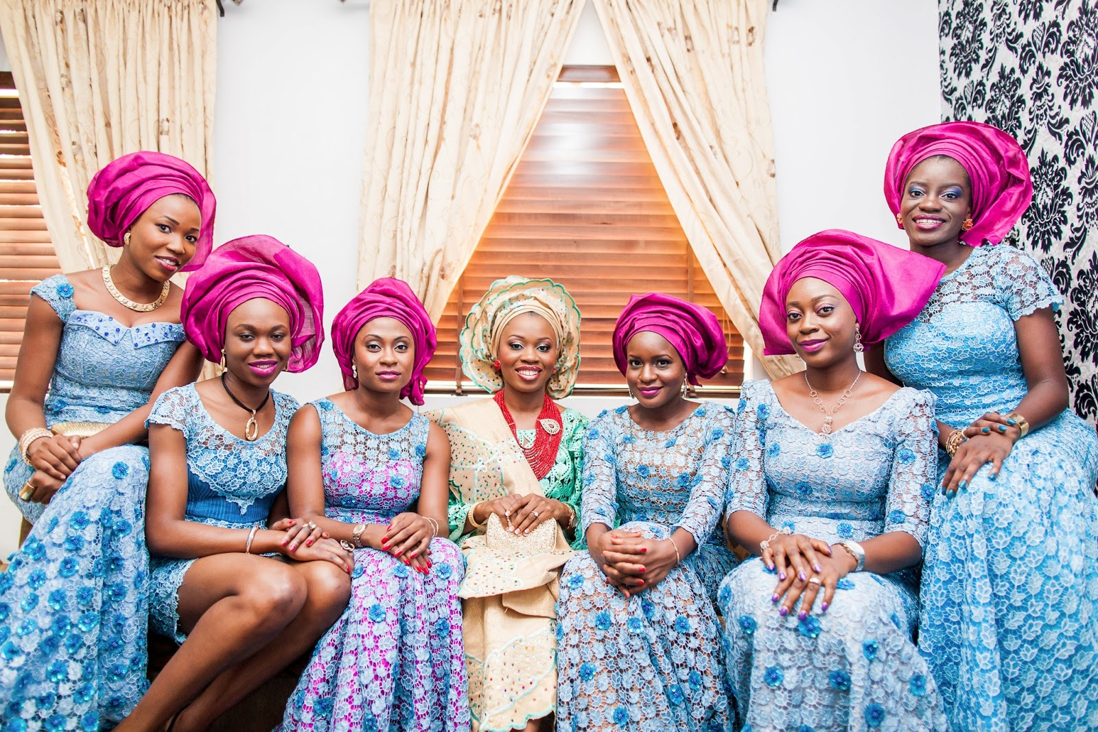 Mint and gold nigerian traditional wedding aisle perfect for Traditional photos