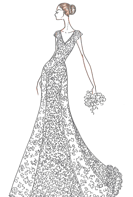 Designer Sketches For Jennifer Aniston Aisle Perfect