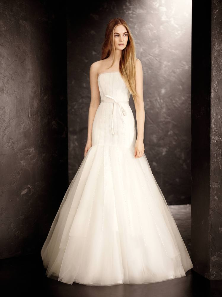 White by vera wang for david 39 s bridal fall 2013 collection for White vera wang wedding dresses