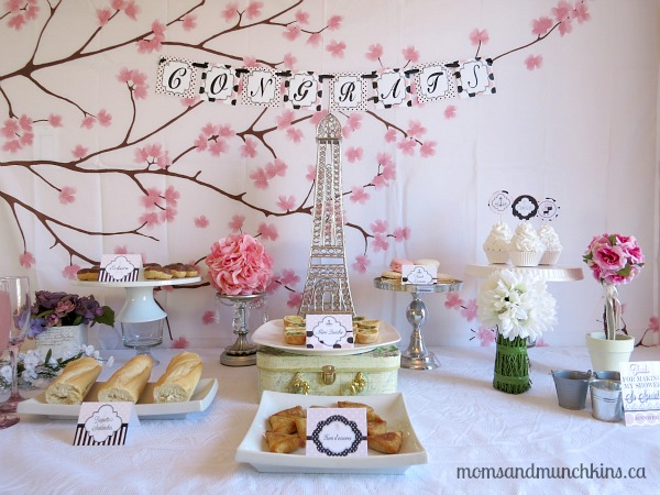 Bridal Shower Inspiration French Parisian Themed Shower