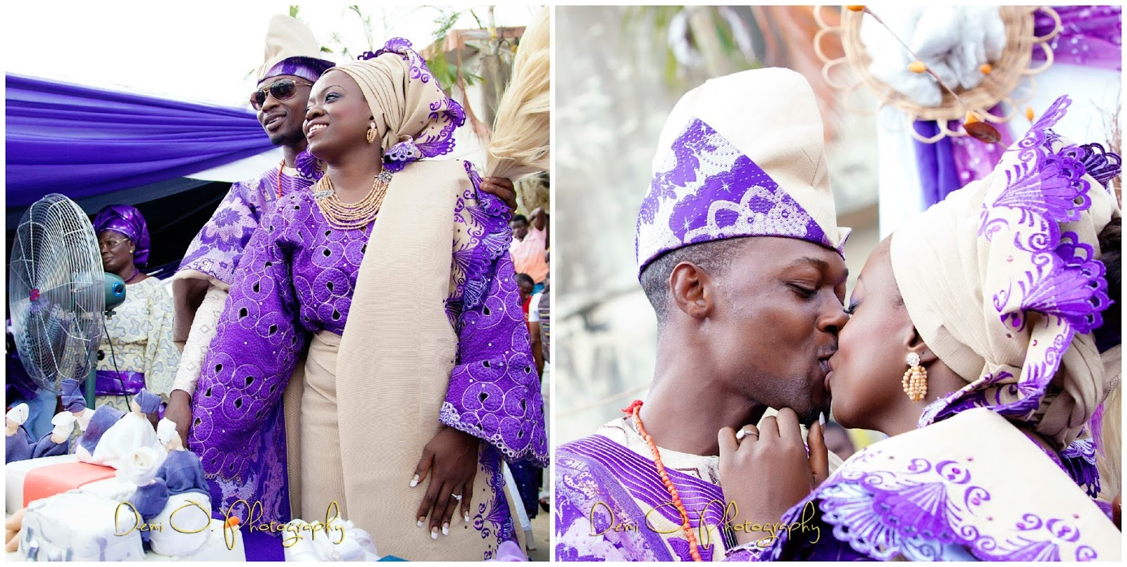 purple and beige traditional wedding by demi olubanwo photography purple and gold wedding