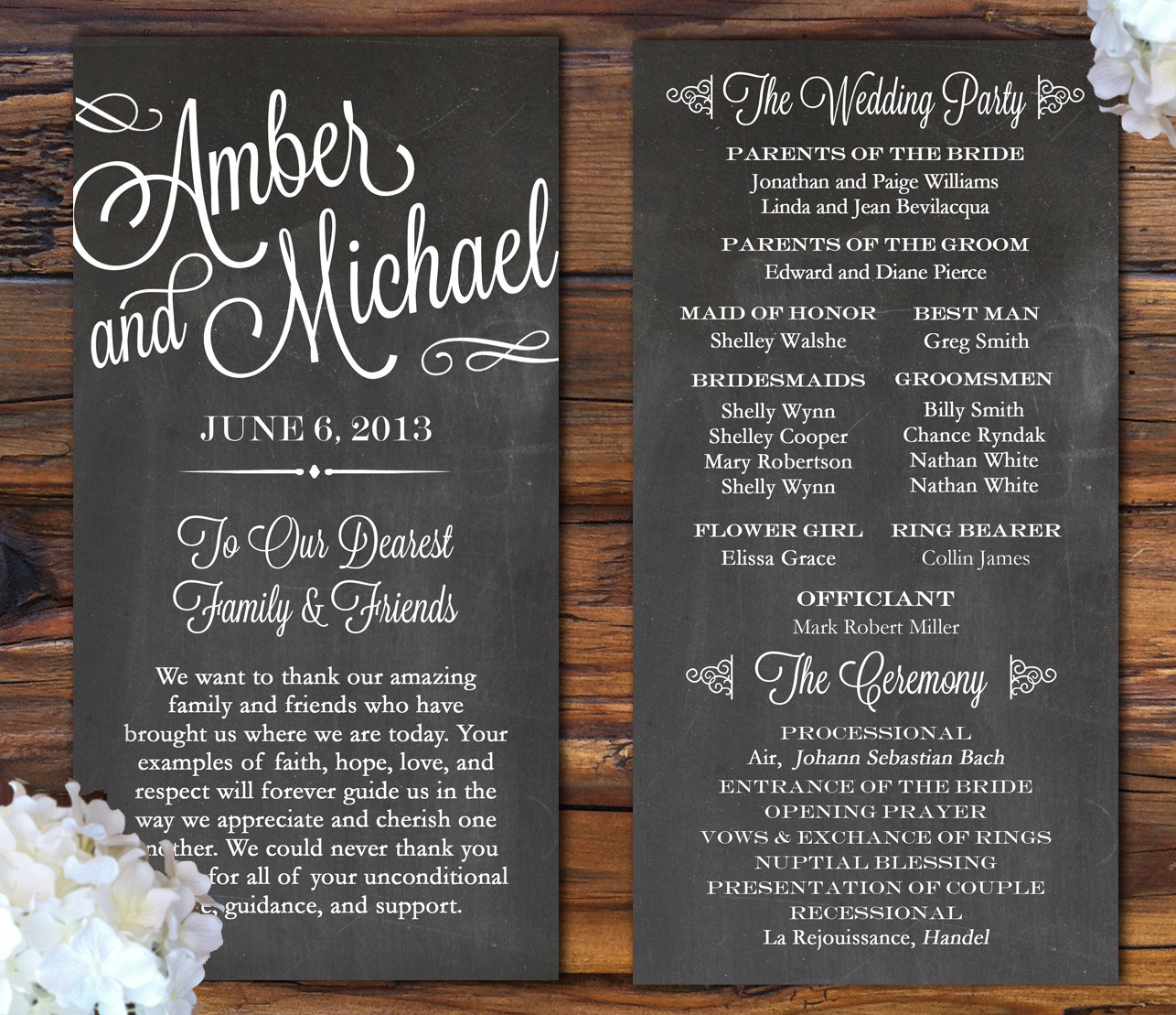 Wedding Programs: 7 Pretty Perfect Wedding Program Ideas