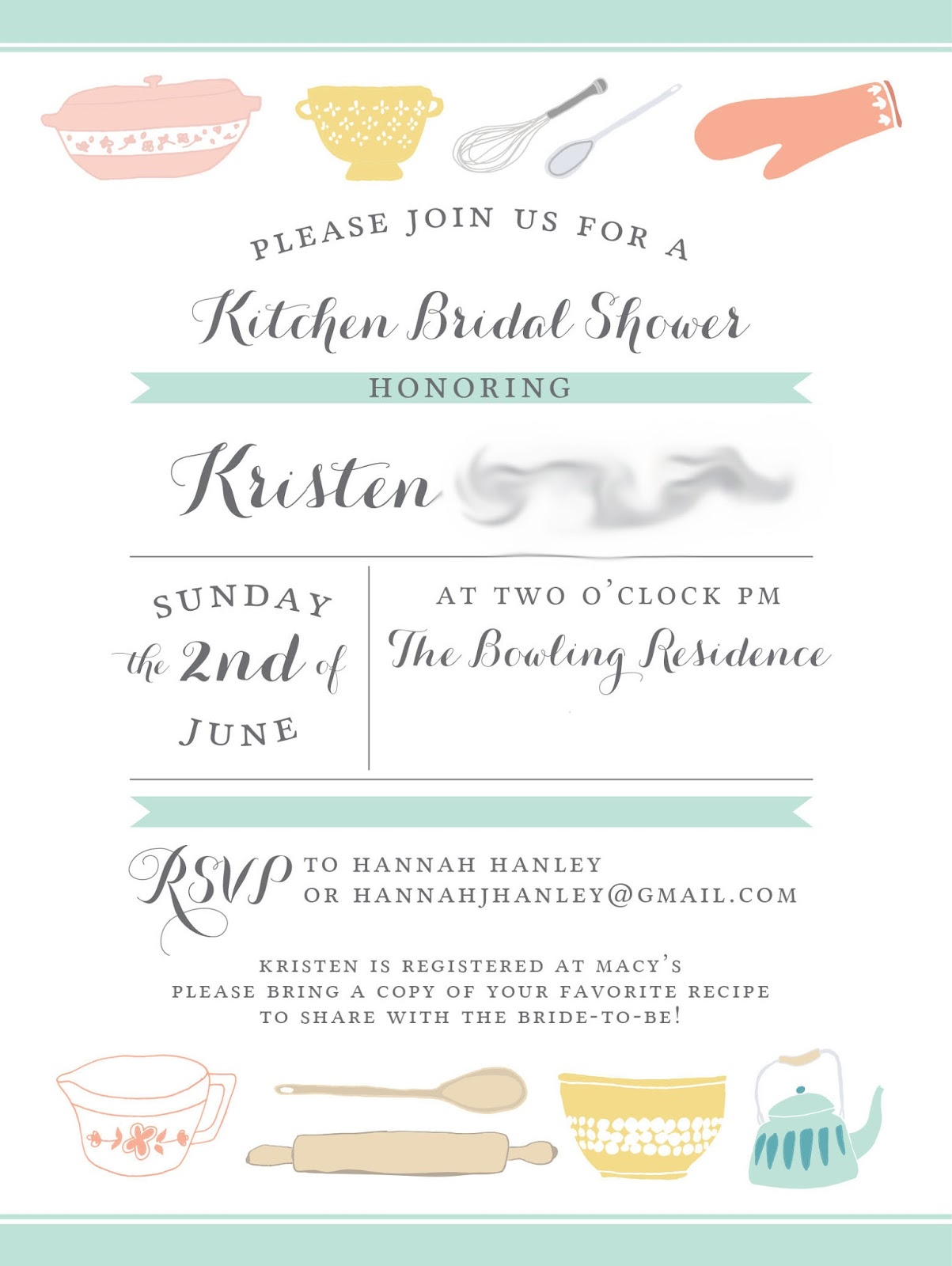 0b13b4679d3 Cooking or Kitchen Themed Bridal Shower Inspiration - Perfete