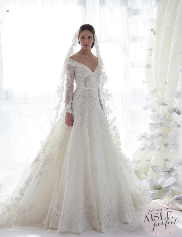 Wedding dresses ziad nakad bridal collection 2013 aisle for Lebanese wedding dress designers