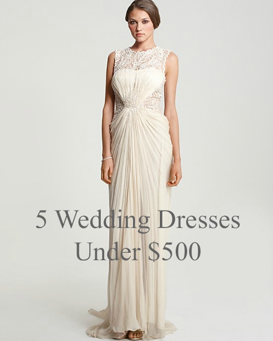 b35baa5b83 I swear this is one of the reasons I look forward to Friday. We re back  with our favorite wedding dresses for  500 or less. I am a bit partial to  the Reem ...