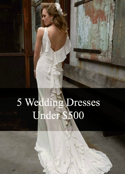 Friday Five For Five Wedding Dresses Under 500 Bucks