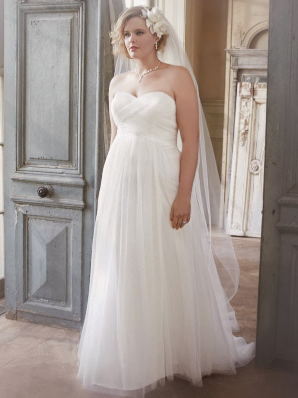 Five plus size wedding dresses for 500 dollars or less for Empire waist plus size wedding dress