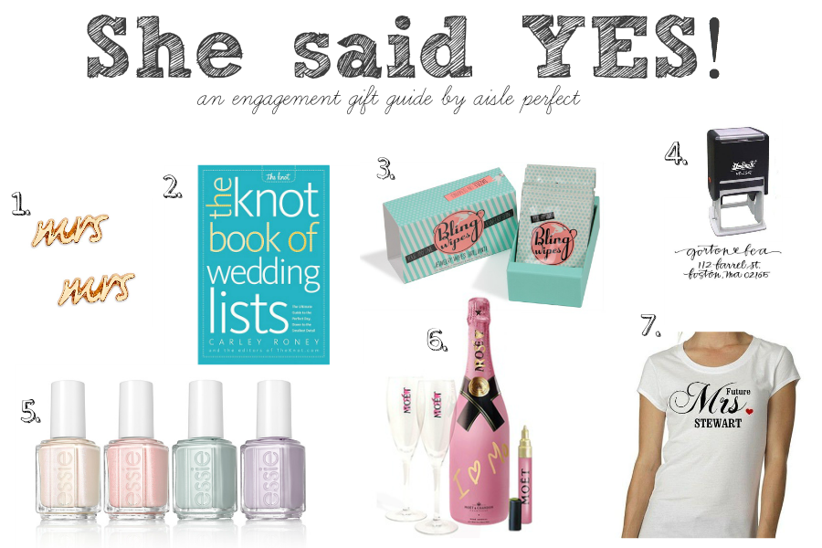 Engagement Gift Guide : What to Get the Newly EngagedAisle Perfect