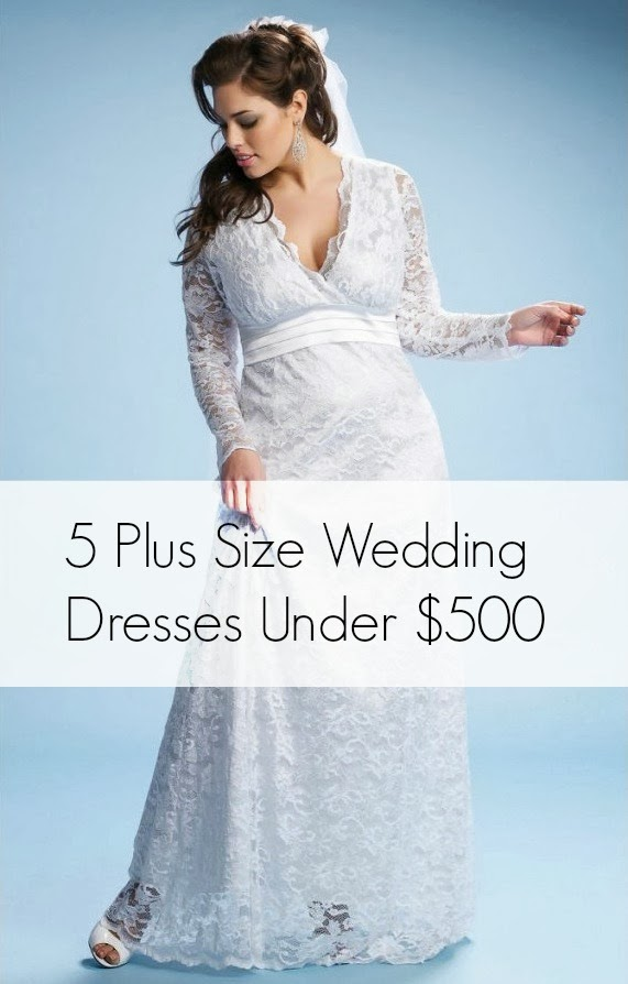Lace Wedding Dresses Under 500 Dollars : Five plus size wedding dresses for dollars or less aisle perfect