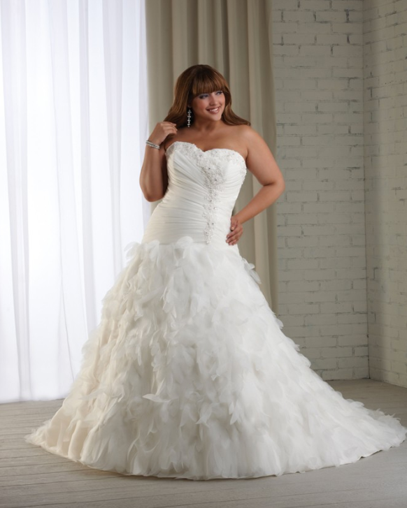 Five plus size wedding dresses for 500 dollars or less for Bonny plus size wedding dresses