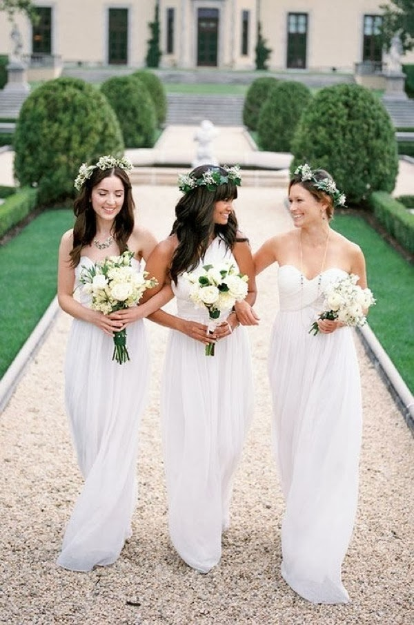 Now Trending: White Bridesmaid Dresses - Aisle Perfect