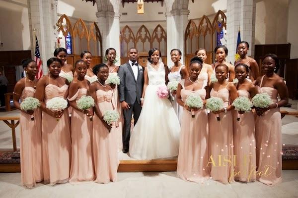 Amsale Bridesmaids in Blush