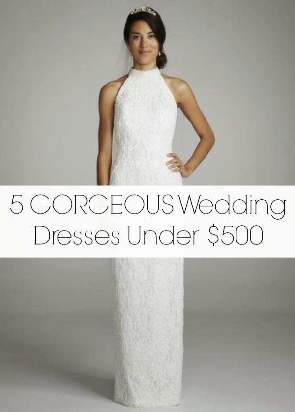 Friday five wedding dresses under 500 aisle for Wedding dresses for 500 or less