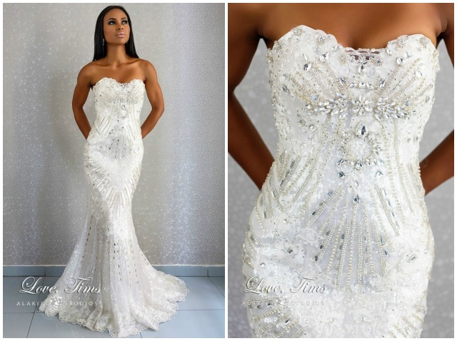 Simple 2015 Women Half Sleeve Lace Hollow Out Long Wedding Party Dress Ladies