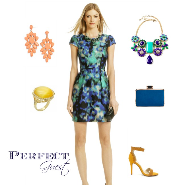 Wedding Guest Outfit Inspiration Blue Green And Yellow Perfete