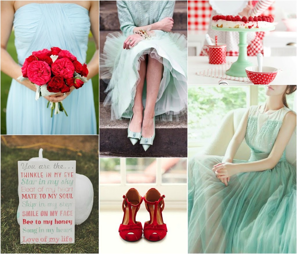 Red Wedding Song.Mint And Red Wedding Inspiration Perfete