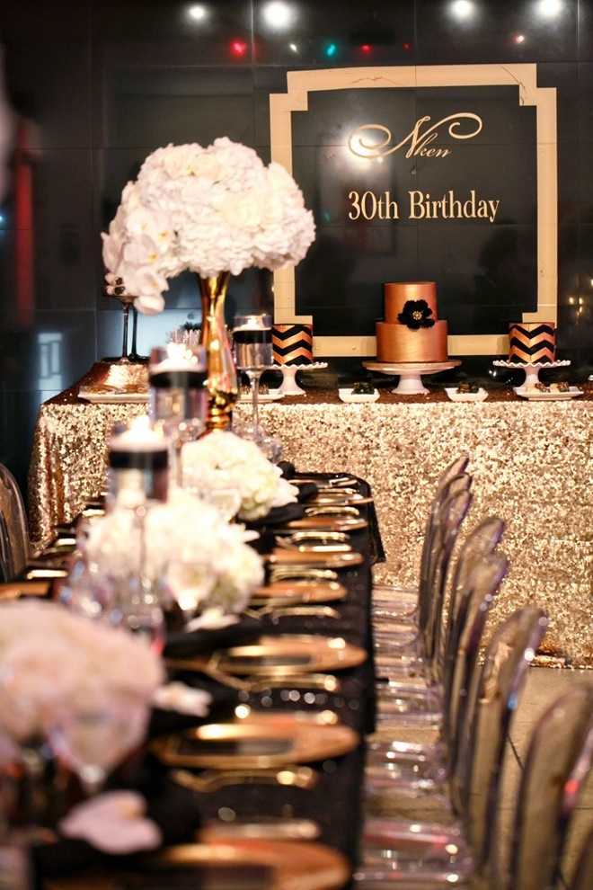 Black and Gold Party Inspiration by Elle's Couture Events 52