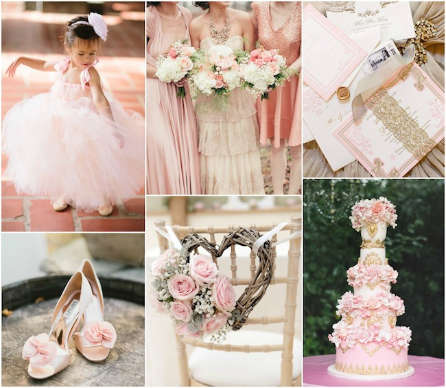 Pink and Rose Gold Wedding Inspiration