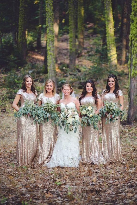 Sequin Rose Gold Bridesmaids