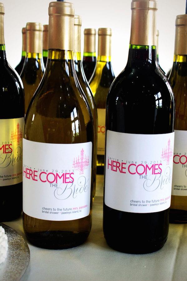 Wine Bridal Shower Favors