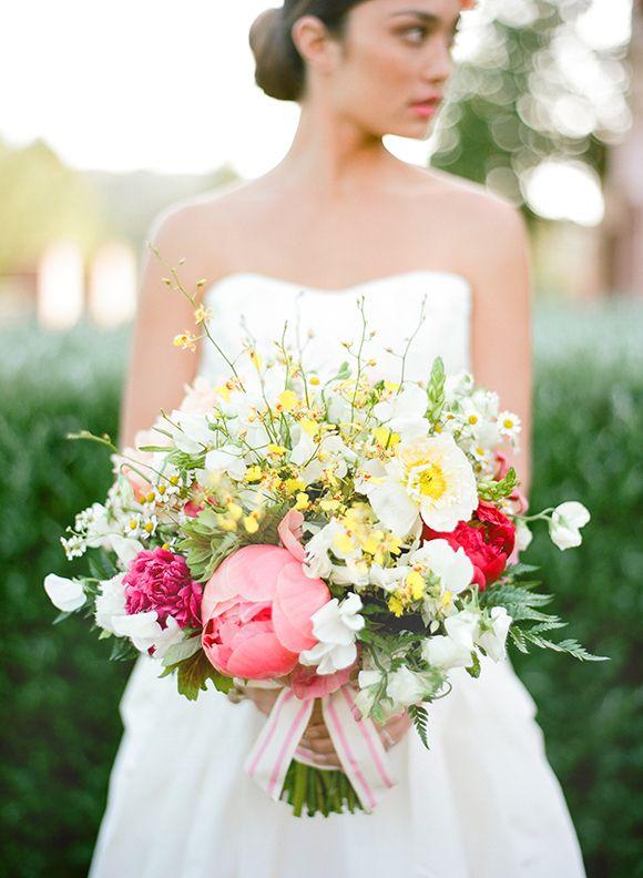Peony Anemone Bouquet | Jose Villa Photography