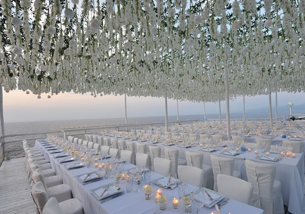 20 Pretty Perfect All White Reception Decor Aisle