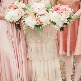 Pink and Rose Gold Bridesmaids