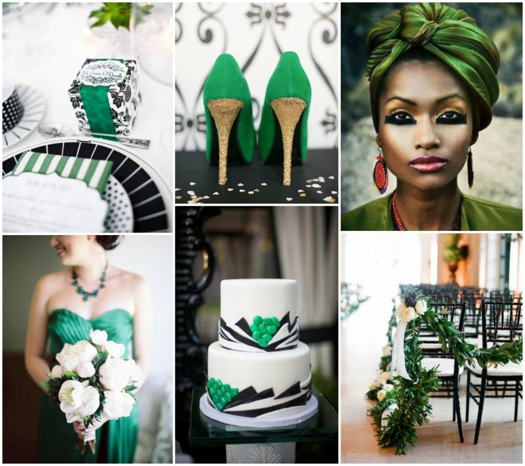 Black White and Emerald