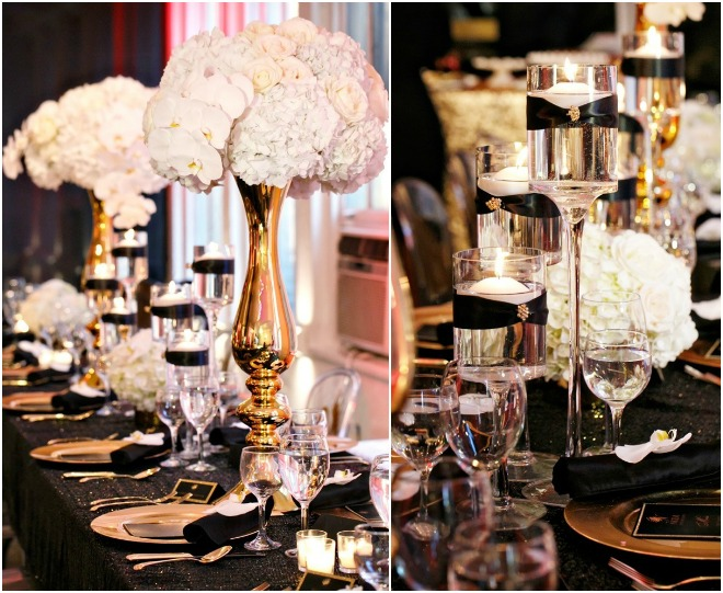 Black and Gold Party Inspiration by Amy Anaiz
