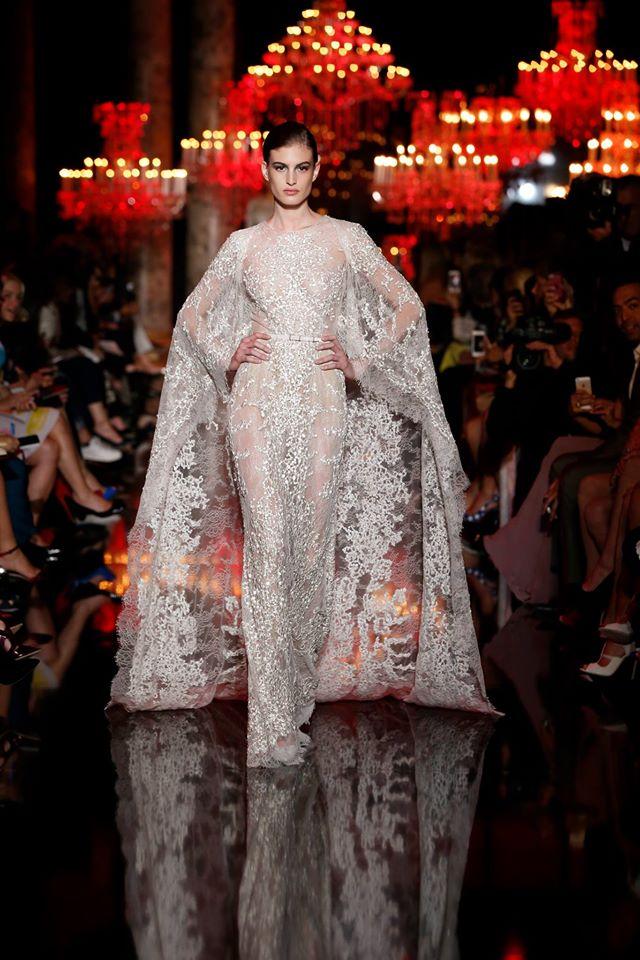 Elie Saab Cape Wedding Dress