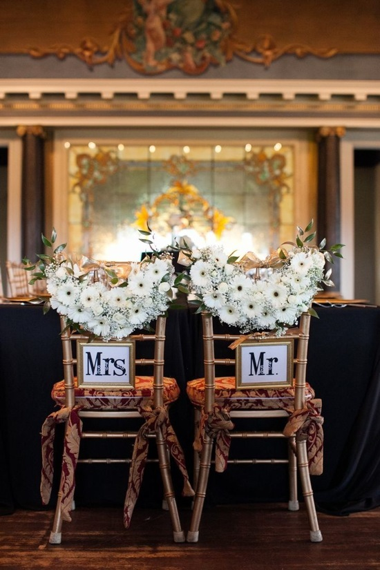 Elegant Wedding Chair Sign
