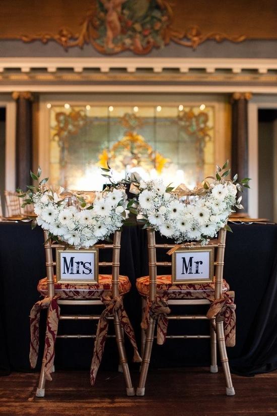Elegant Wedding Chair Sign