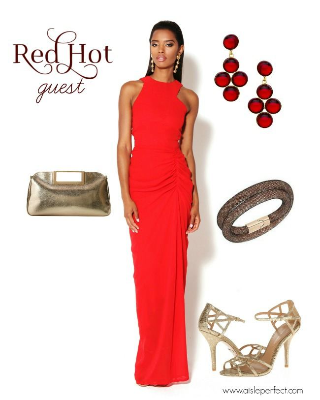 Red Hot Wedding Guest Outfit Perfete