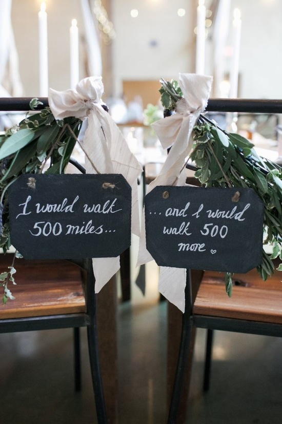Quote Wedding Chair Sign