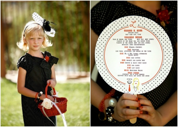 Red and Black Polka dot Wedding by Logan Walker photography