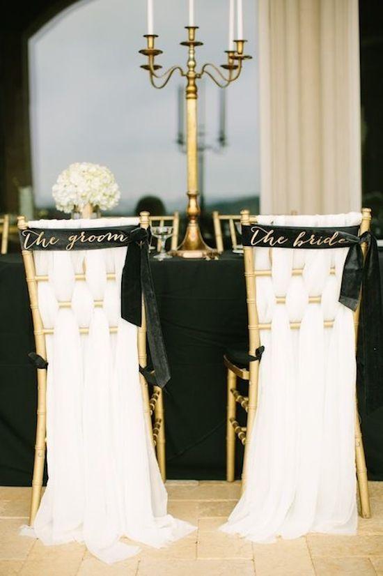 Sash Wedding Chair Sign