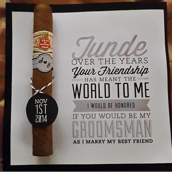 Cigar Groomsman Proposal