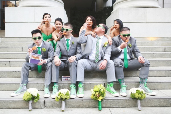 Colored Groomsmen Socks | Image by Verstyle Photography