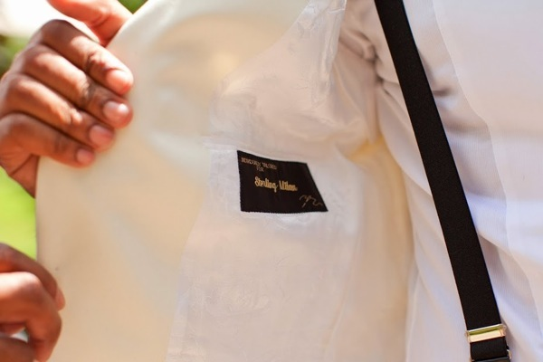 Personalized Groom's Tux Lining