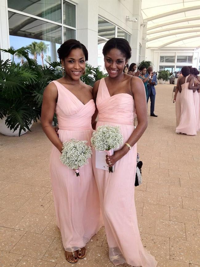 Pink Amsale Bridesmaids