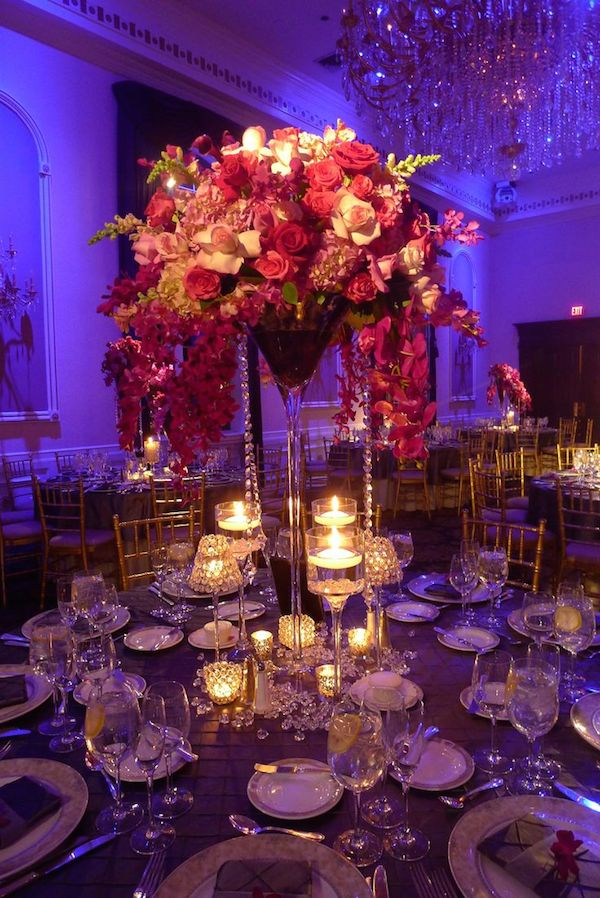 Purple Backlight and pink Centerpiece