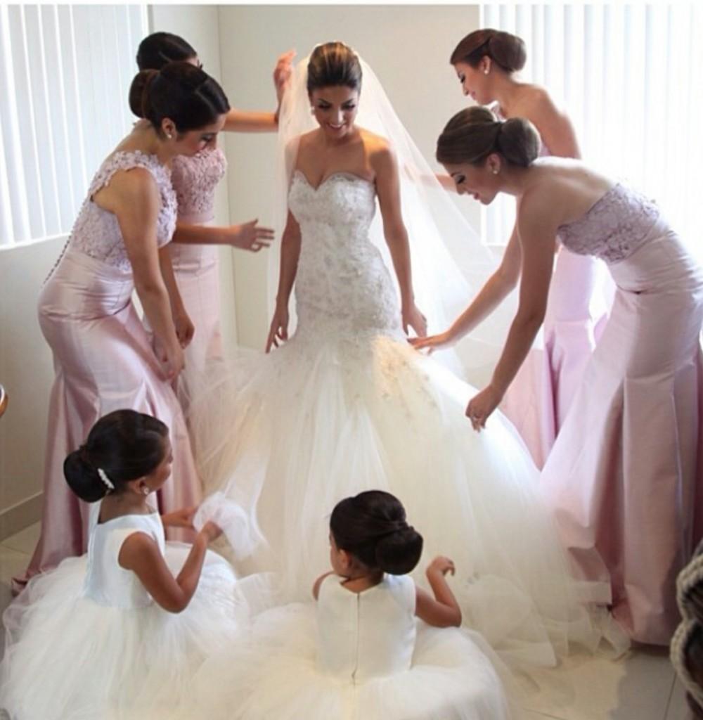 Wedding dress with BM