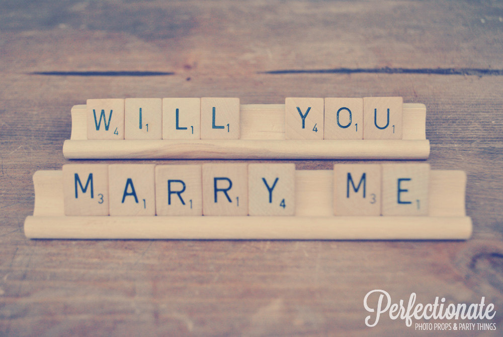 Will You Marry Me Scrabble Prop by Perfectionate