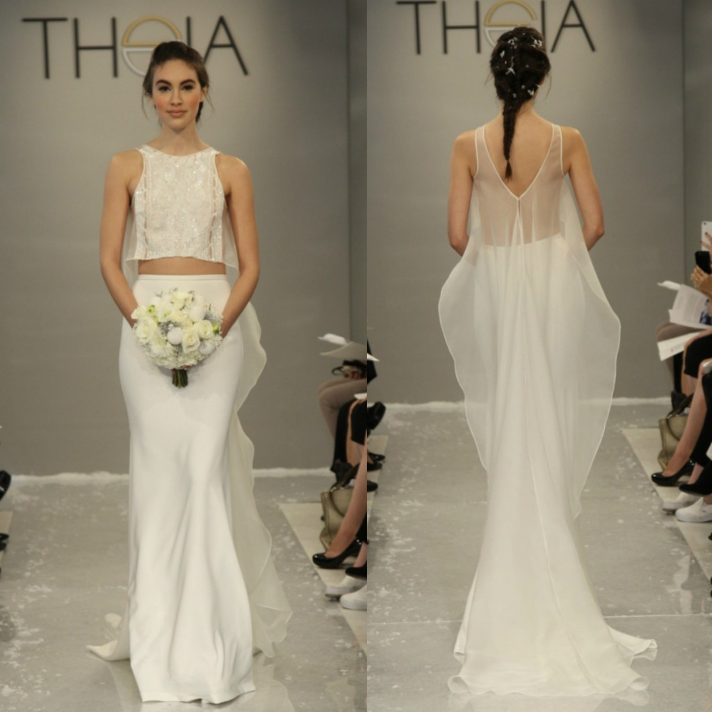 Crop Top Theia Gown