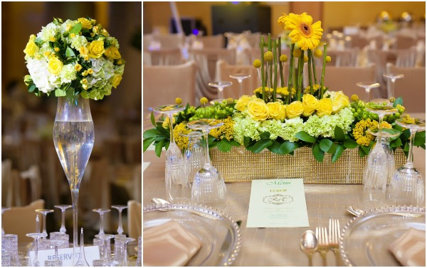 yellow and green decor
