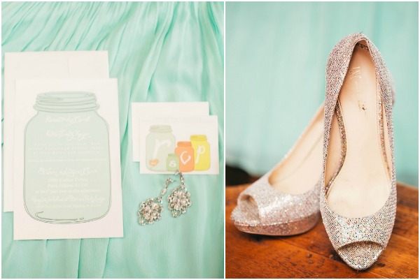 DIY Mint wedding by rachel osborn photography